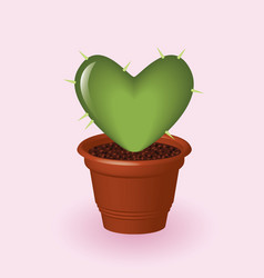 Heart cactus vector