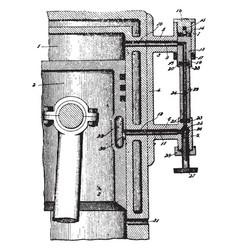 Ignition tube vintage vector