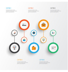 Job flat icons set collection of increasing vector