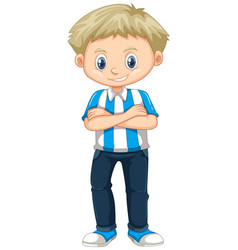 Little boy from argentina vector
