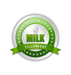 Milk badge vector image vector image