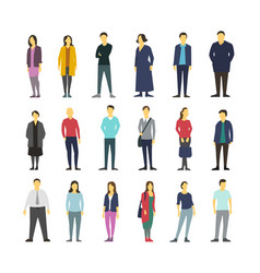 Neatly people standing flat design large vector