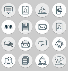 network icons set includes icons such as note vector image vector image