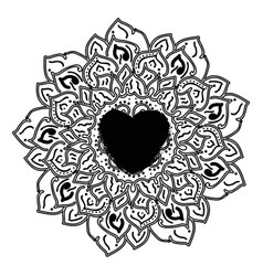 outline mandala for coloring book decorative vector image vector image