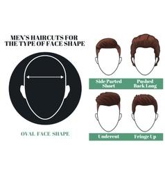 Oval face shape vector
