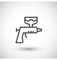 Paint gun line icon vector