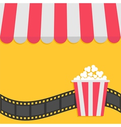 Popcorn film strip cinema icon striped store vector
