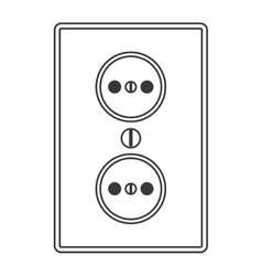 Power outlet icon vector