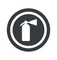 Round black fire extinguisher sign vector