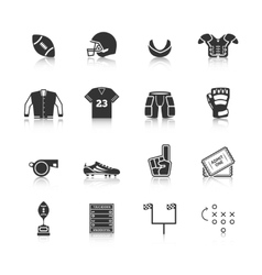Rugby Icons Set vector image vector image