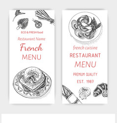 sketch - breakfast card menu vector image vector image