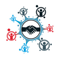 Successful business creative logo handshake deal vector