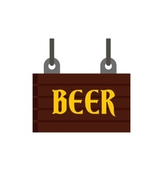 Street beer signboard icon flat style vector