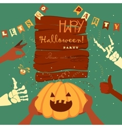 Trick or treat halloween poster background card vector