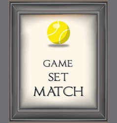 retro tennis poster vector image