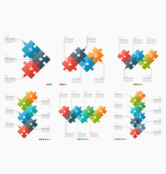 Set of 3-8 option infographic templates vector