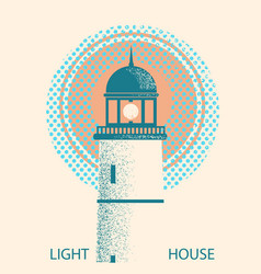 Lighthouse symbolretro vector