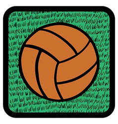 Soccer ball over grass vector