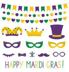 Mardi gras decoration vector
