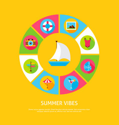 Summer vibes concept vector