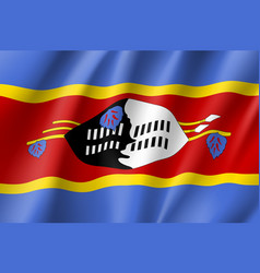swaziland realistic flag vector image