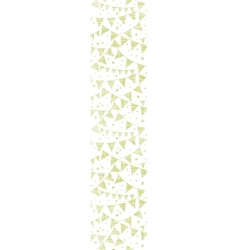 Green textile party bunting vertical seamless vector