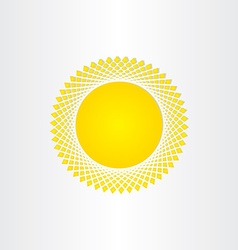 sun icon solar energy yellow symbol vector image