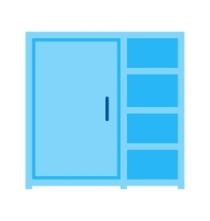 Cupboard with shelves vector