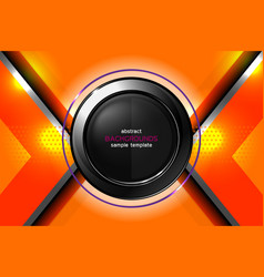 Abstract orange background technology vector