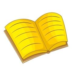 Book icon cartoon style vector image