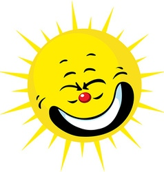 Cute sun smiling - vector