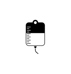 drop counter with blood solid icon blood donor vector image vector image
