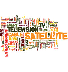 Entertainment ala satellite tv text background vector