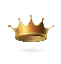gold crown on white background isolated vector image