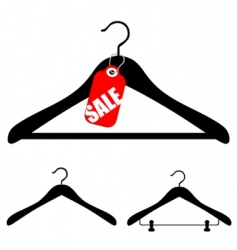 hangers with sale vector image vector image