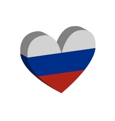 hart Russian flag vector image