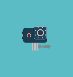 Icon flat action cam element vector