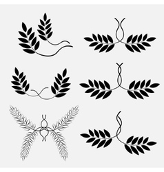 Laurel tattoo for lesbian couple sign icon vector