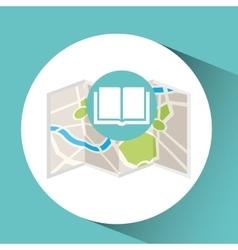 Library map pin pointer design vector