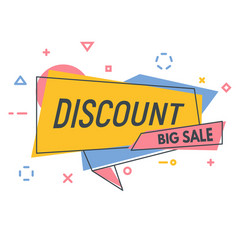 line discount banner vector image vector image