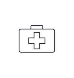 medicine chest thin line icon linear vector image vector image