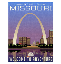 Missouri travel poster vector