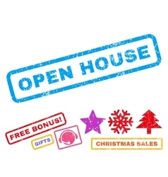 Open house rubber stamp vector
