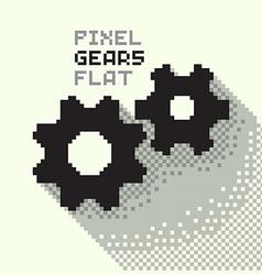 Pixel Gears vector image vector image
