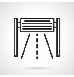 Road billboard black line icon vector image vector image