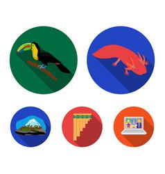 Sampono mexican musical instrument a bird with a vector