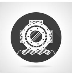 Scuba helmet black round icon vector