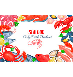 seafood product poster vector image vector image