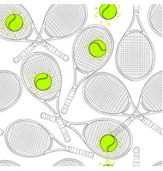 seamless pattern with tennis vector image vector image