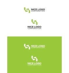 simple green logo vector image